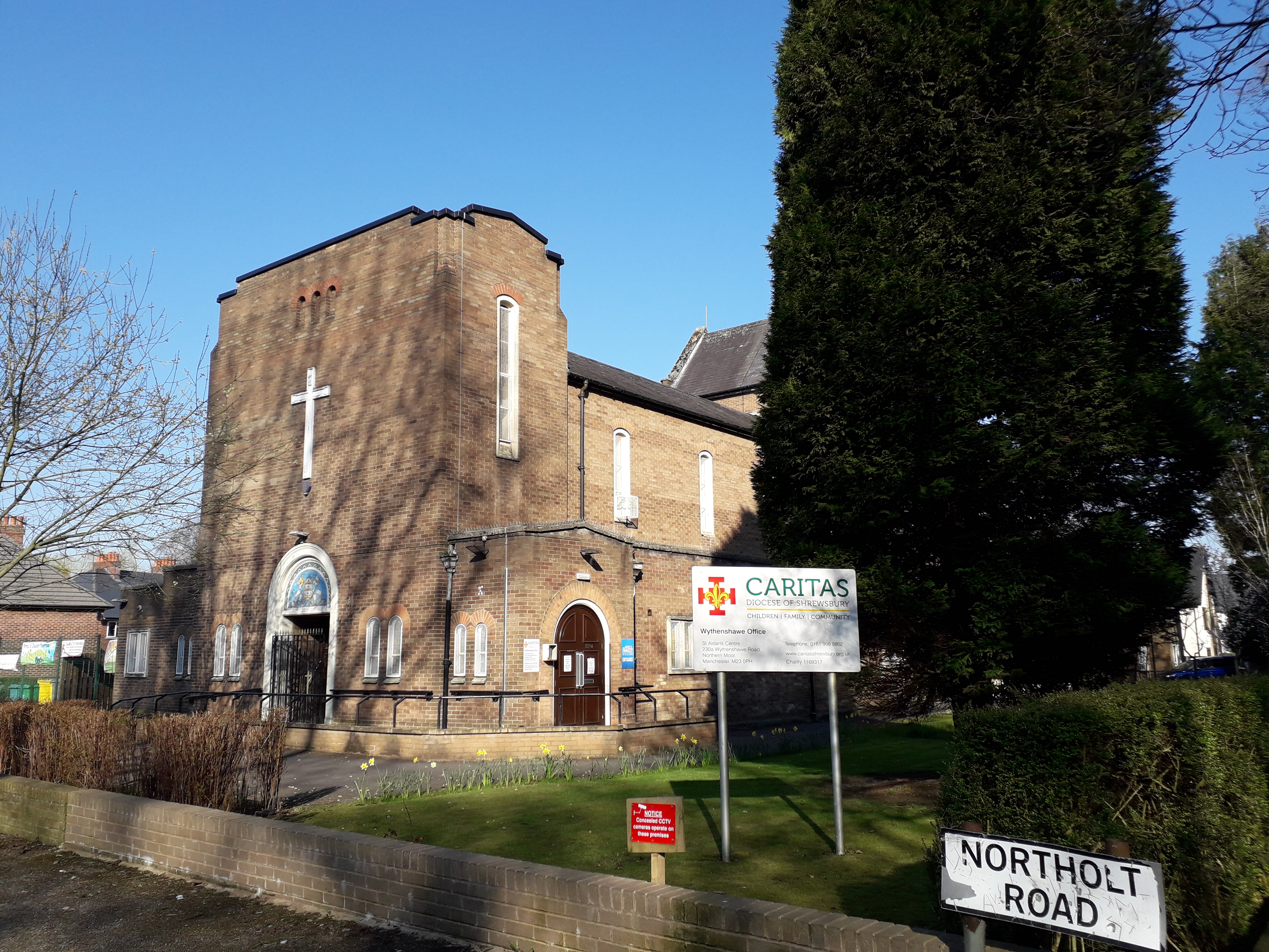 St Aidan's Church from the outside
